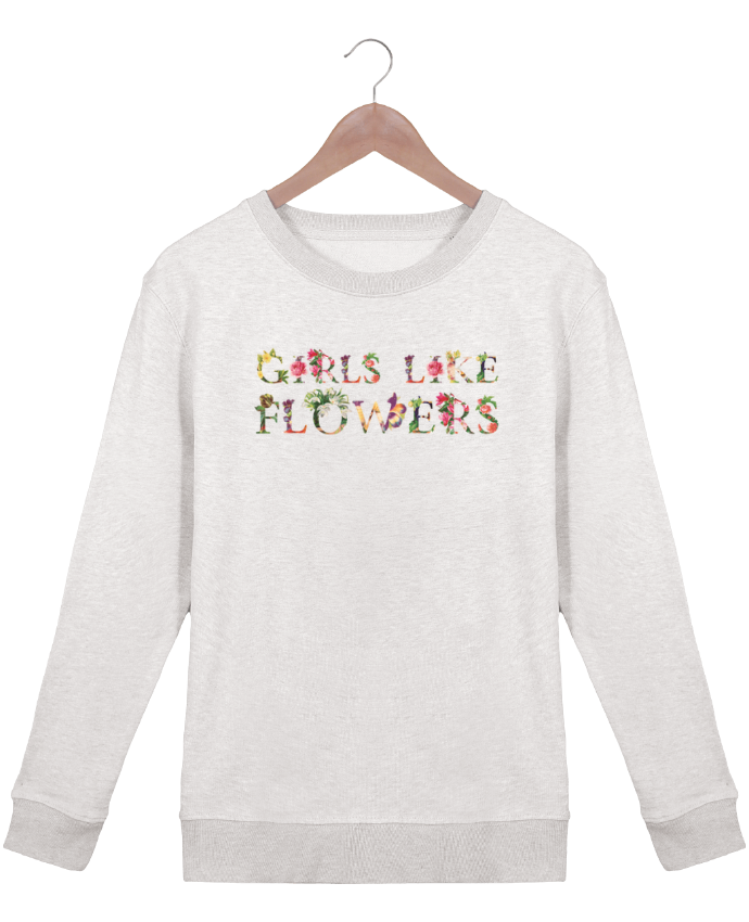 Sweatshirt Women crew neck Stella Hides Girls like flowers by tunetoo