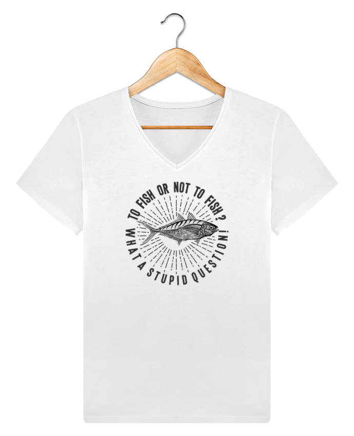 T-shirt V-neck Men Stanley Relaxes Fishing Shakespeare Quote by Original t-shirt