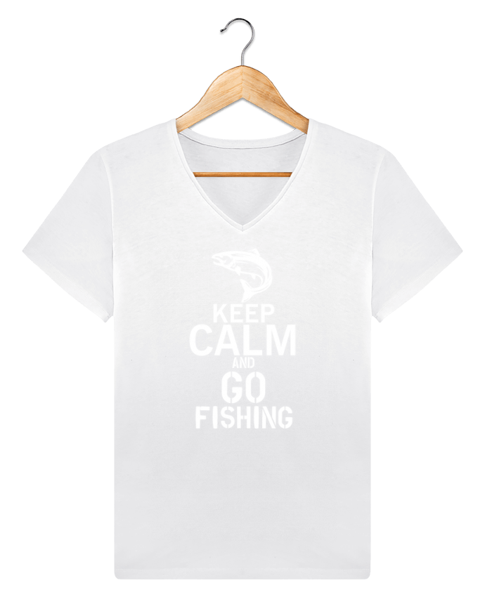 T-shirt V-neck Men Stanley Relaxes Keep calm fishing by Original t-shirt