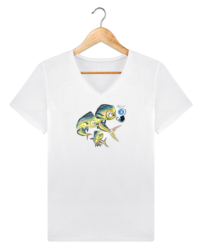 T-shirt V-neck Men Stanley Relaxes Awesome Fish by Original t-shirt