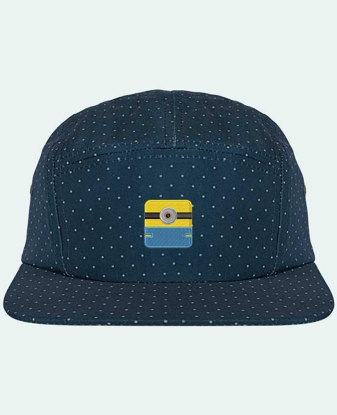 5 Panel Cap dot pattern Minion carré brodé by tunetoo