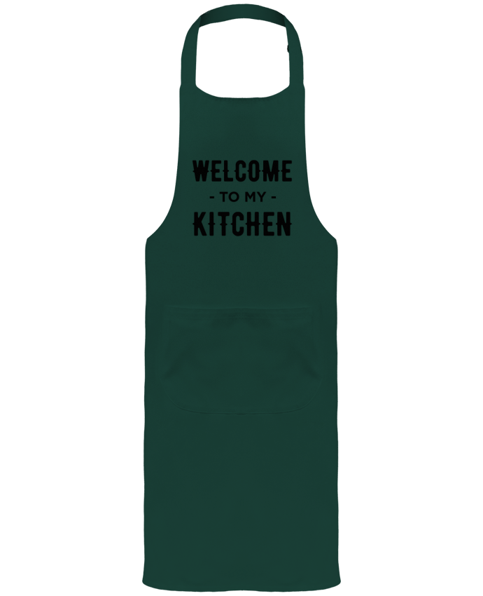 Garden or Sommelier Apron with Pocket Welcome to my kitchen by tunetoo