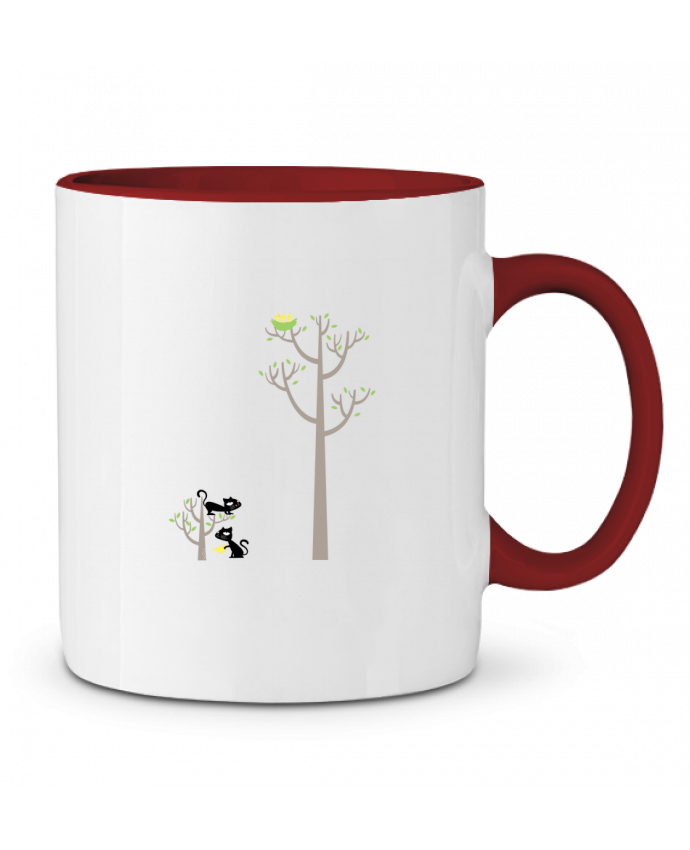Two-tone Ceramic Mug Growing a plant for Lunch flyingmouse365