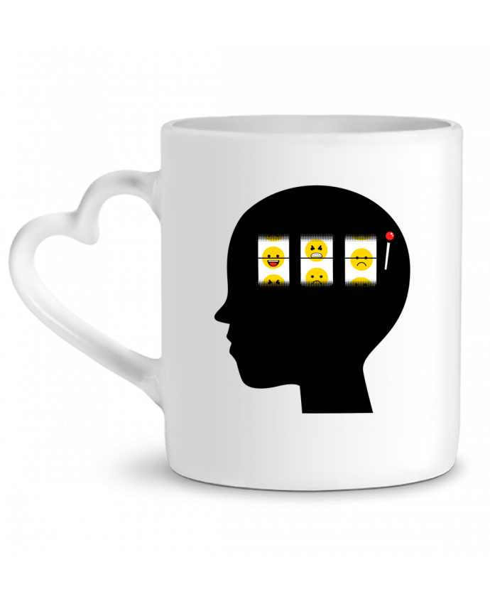 Mug Heart Mood of the day by flyingmouse365