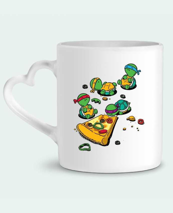Mug Heart Pizza lover by flyingmouse365