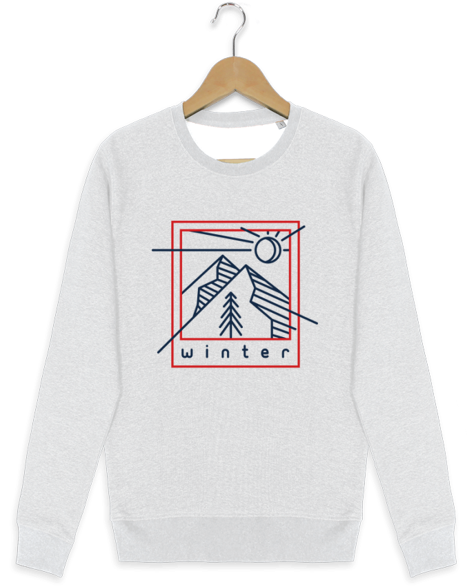 sweatshirt crew neck UStella Seeks Winter polaroid by tunetoo