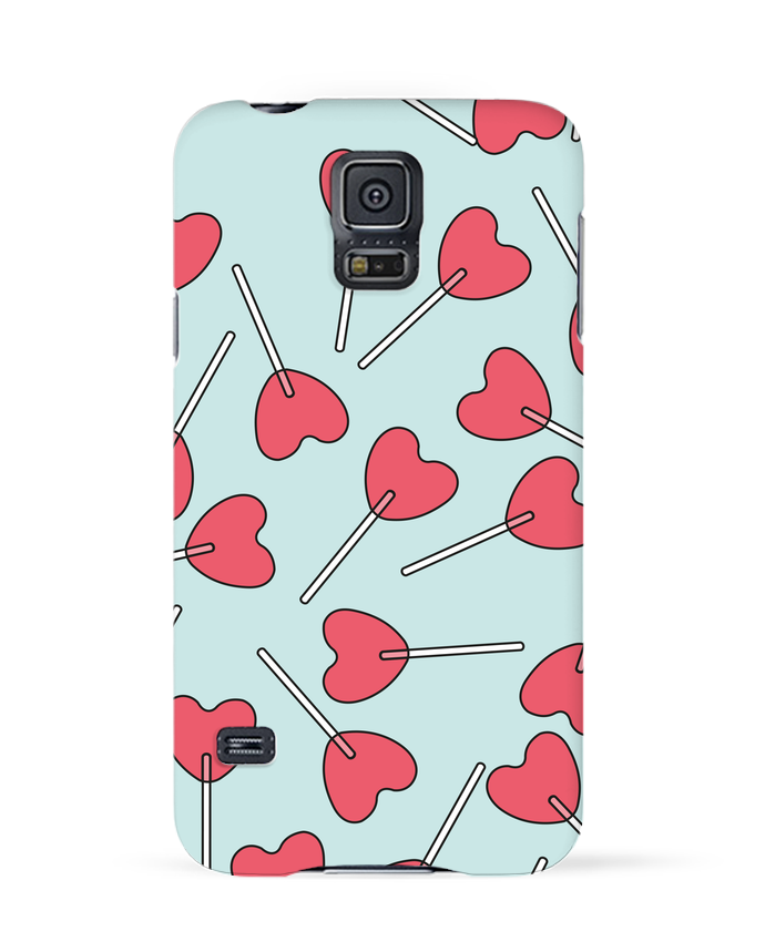 Case 3D Samsung Galaxy S5 Sucettes coeur by tunetoo