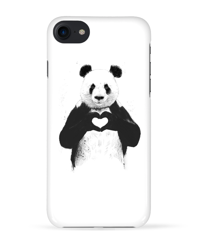 Case 3D iPhone 7 All you need is love de Balàzs Solti