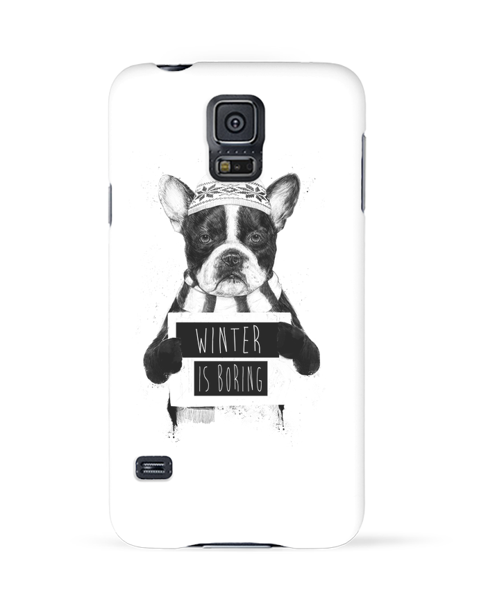 Case 3D Samsung Galaxy S5 Winter is boring by Balàzs Solti