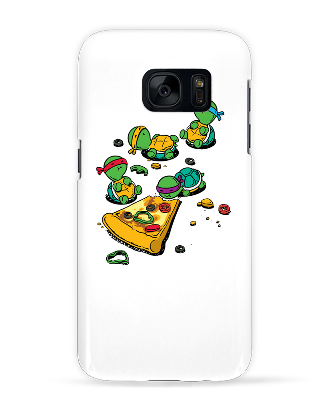 Case 3D Samsung Galaxy S7 Pizza lover by flyingmouse365