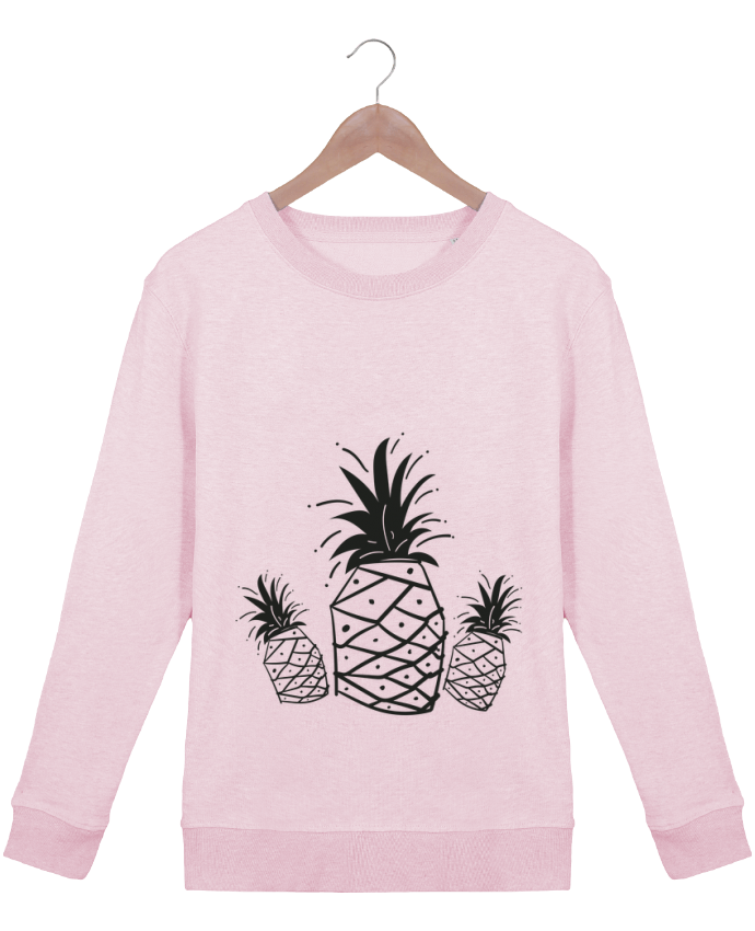 Sweatshirt Women crew neck Stella Hides CRAZY PINEAPPLE by IDÉ'IN
