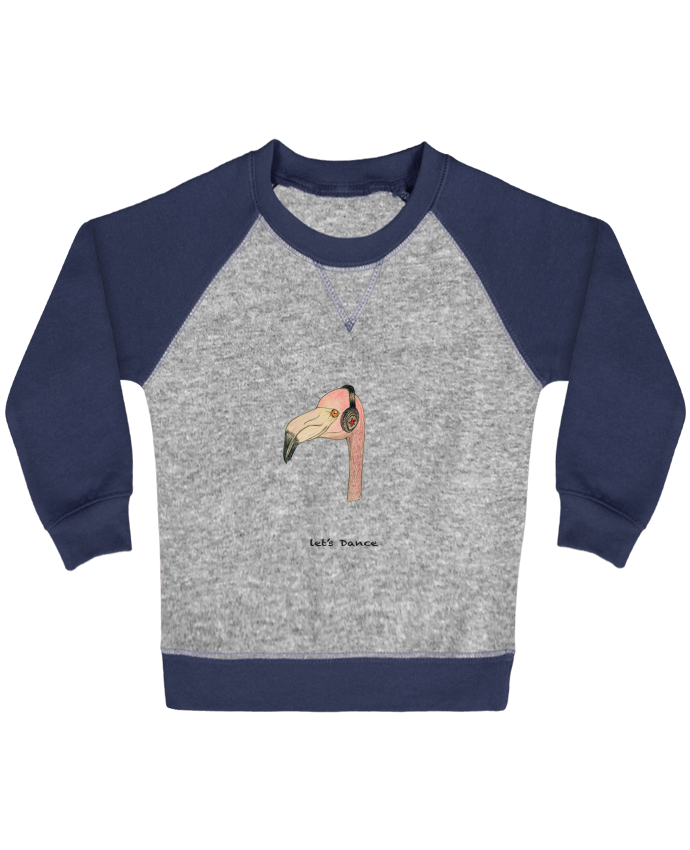 Sweatshirt Baby crew-neck sleeves contrast raglan Flamingo LET'S DANCE by La Paloma by La Paloma