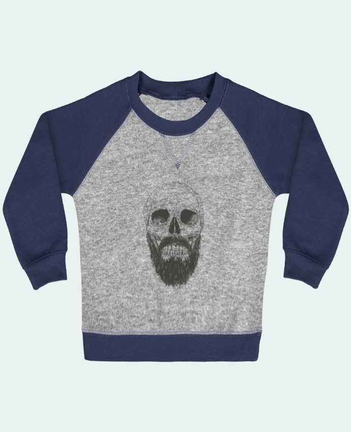 Sweatshirt Baby crew-neck sleeves contrast raglan Beard is not dead by Balàzs Solti