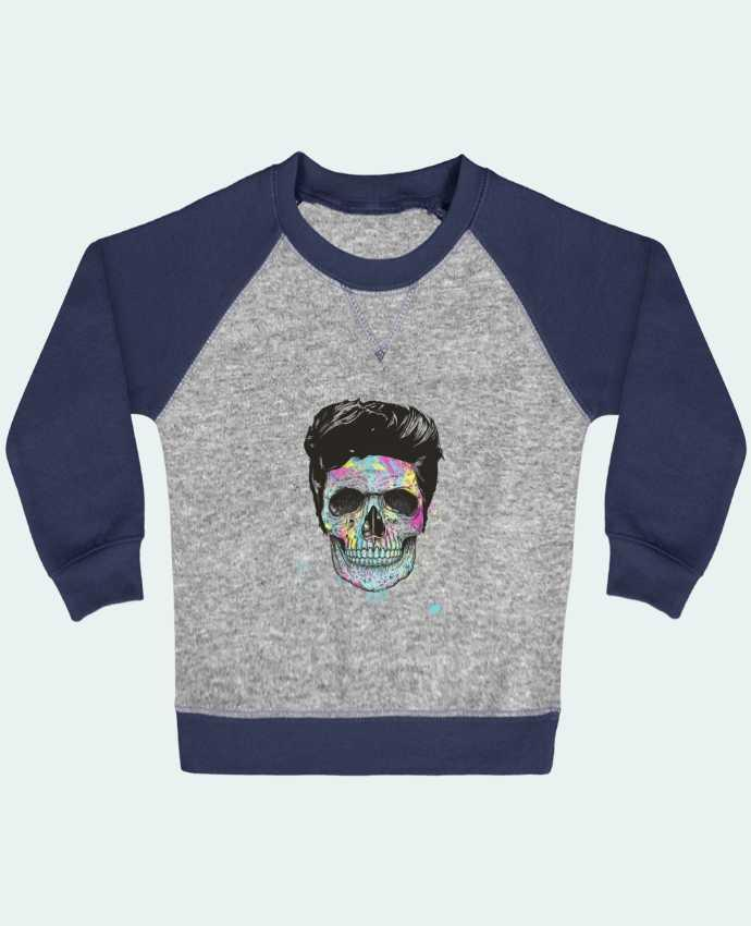 Sweatshirt Baby crew-neck sleeves contrast raglan Death in Color by Balàzs Solti