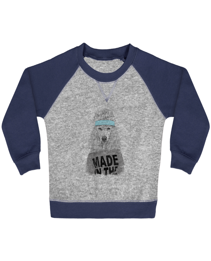 Sweatshirt Baby crew-neck sleeves contrast raglan 80's bitch by Balàzs Solti
