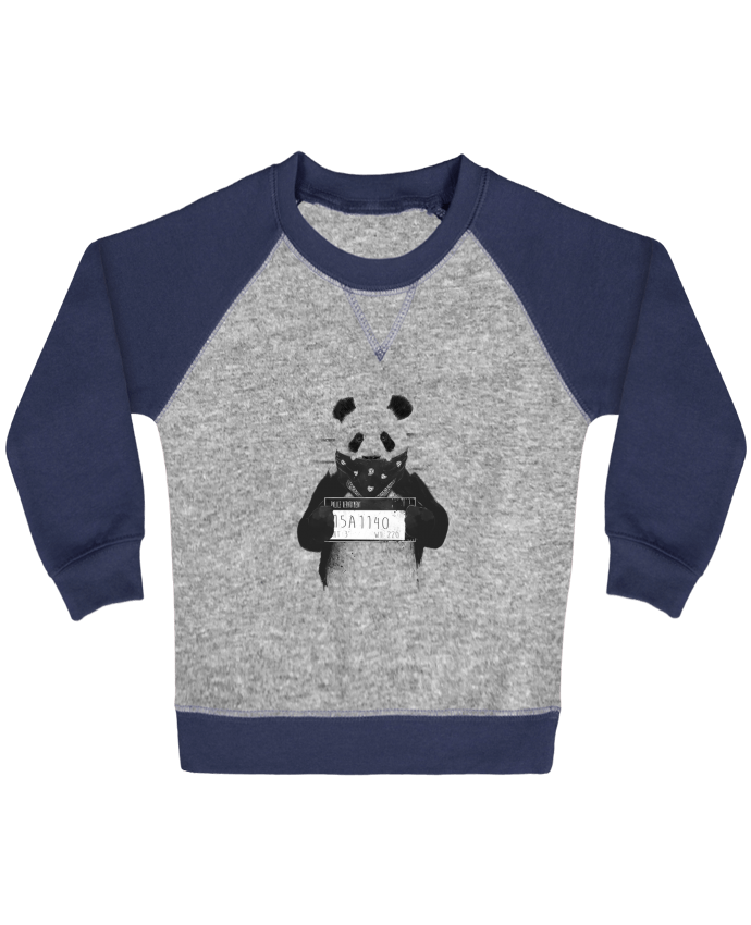Sweatshirt Baby crew-neck sleeves contrast raglan Bad panda by Balàzs Solti