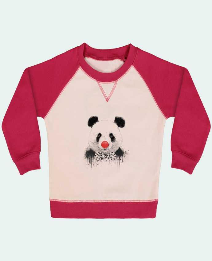 Sweatshirt Baby crew-neck sleeves contrast raglan Clown by Balàzs Solti