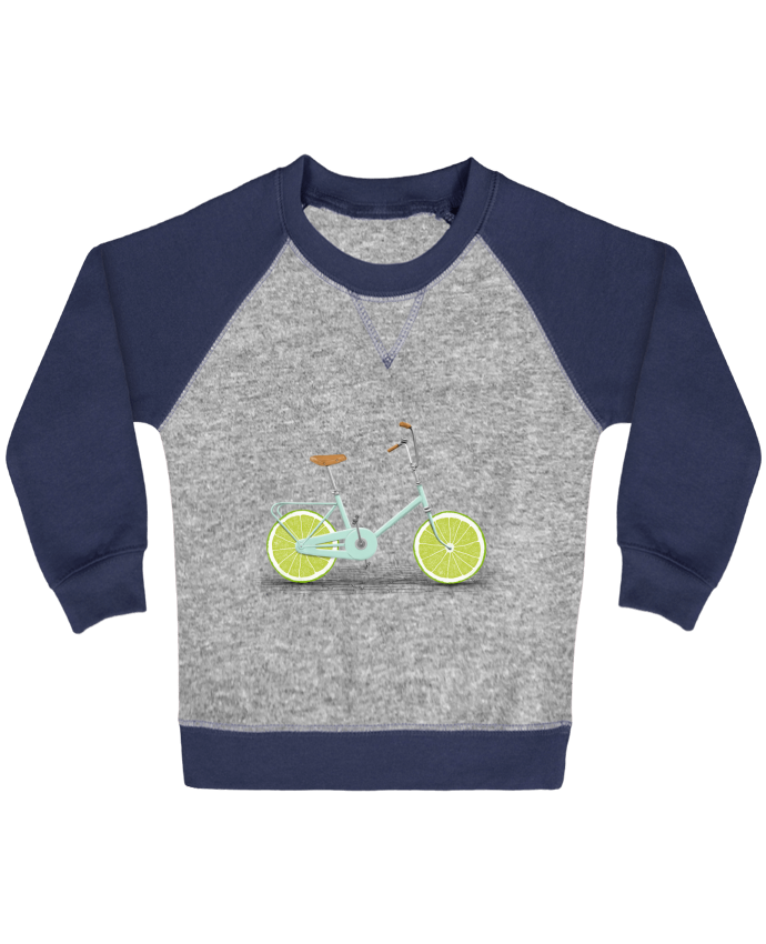 Sweatshirt Baby crew-neck sleeves contrast raglan Acid by Florent Bodart