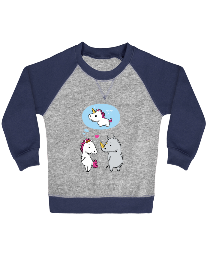Sweatshirt Baby crew-neck sleeves contrast raglan Perfect match by flyingmouse365