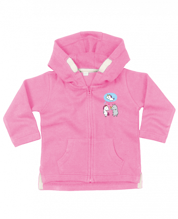 Hoddie with zip for baby Perfect match by flyingmouse365