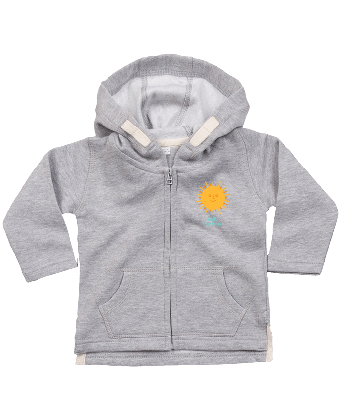 Hoddie with zip for baby HelloSunshine by chriswharton