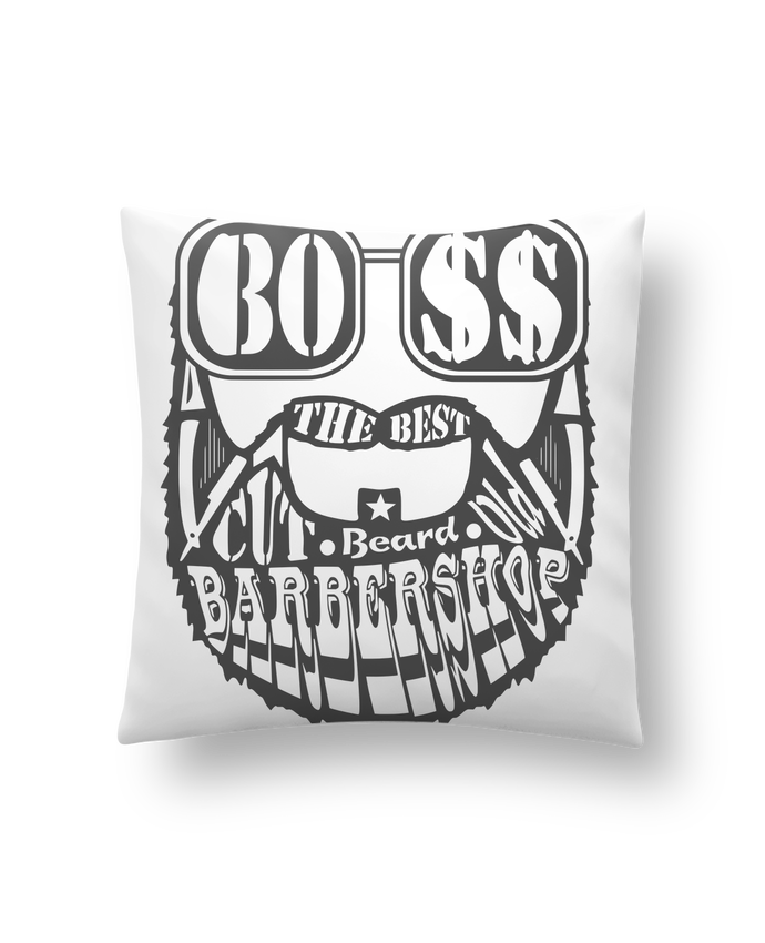Cushion synthetic soft 45 x 45 cm Barbershop by markageurbain
