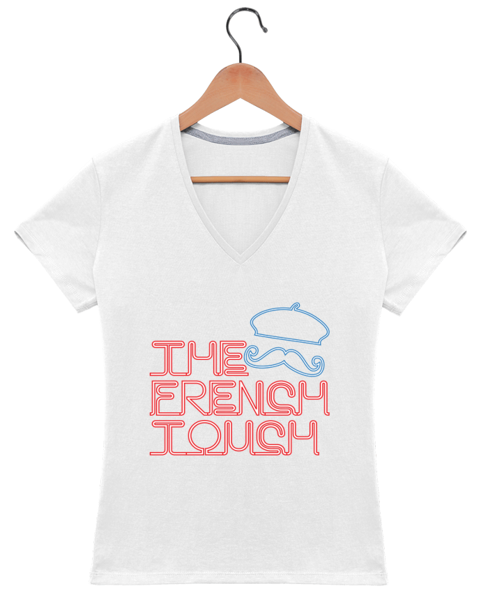 T-Shirt V-Neck Women The French Touch by Freeyourshirt.com