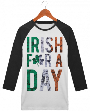 T-shirt Baseball crew-neck unisex stanley stella Irish for a day by tunetoo