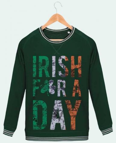 Sweatshirt crew neck Men Stanley Strolls Tipped Irish for a day by tunetoo