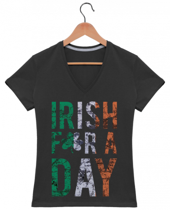 T-Shirt V-Neck Women Irish for a day by tunetoo