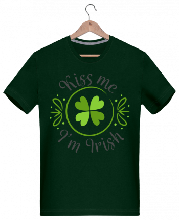 T-Shirt Men 180g Kiss me I'm Irish by tunetoo