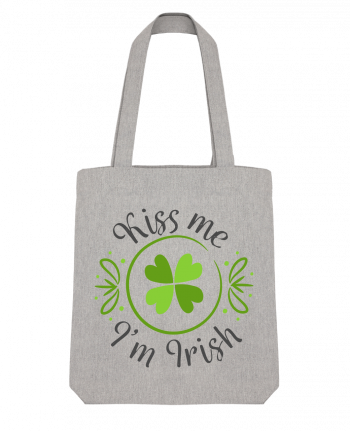 Tote Bag Stanley Stella Kiss me I'm Irish by tunetoo
