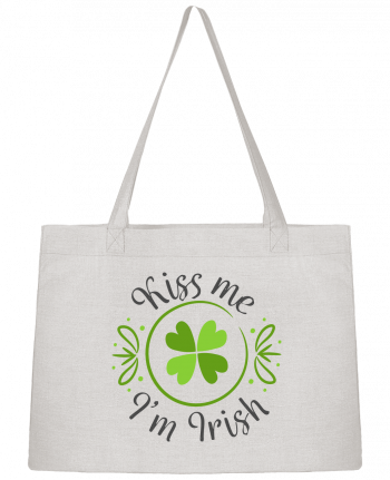 Shopping tote bag Stanley Stella Kiss me I'm Irish by tunetoo