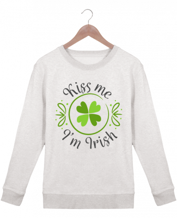 Sweatshirt Women crew neck Stella Hides Kiss me I'm Irish by tunetoo