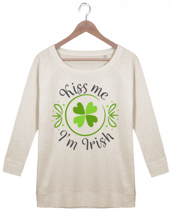 Sweatshirt Women 3/4 sleeve Stella Amazes Tencel Kiss me I'm Irish by tunetoo