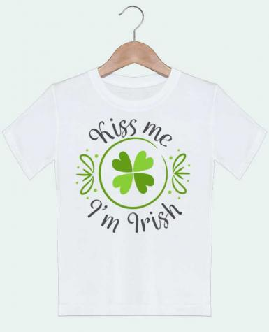 T-shirt garçon motif Kiss me I'm Irish tunetoo
