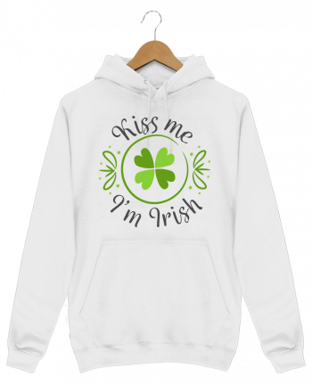 Hoodie Men Kiss me I'm Irish by tunetoo