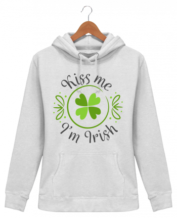 Hoodie Women Kiss me I'm Irish - tunetoo