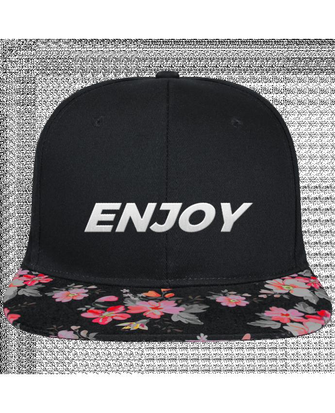 snapback cap visor black floral crown pattern enjoy brod. Black Bedroom Furniture Sets. Home Design Ideas