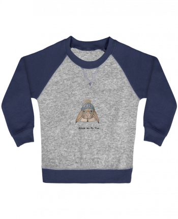 Sweatshirt Baby crew-neck sleeves contrast raglan FROM ME TO YOU by La Paloma