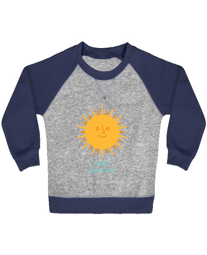 Sweatshirt Baby crew-neck sleeves contrast raglan HelloSunshine by chriswharton