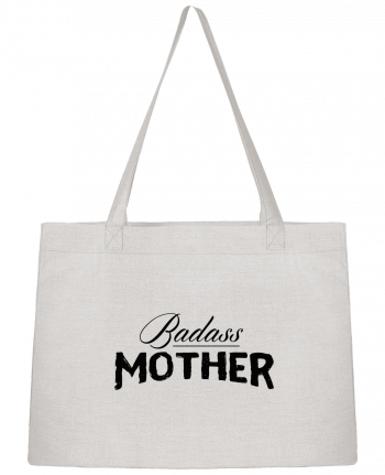 Shopping tote bag Stanley Stella Badass Mother by tunetoo