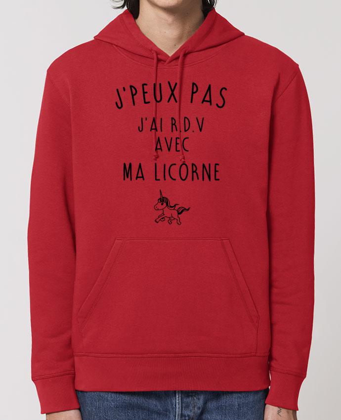 Essential unisex hoodie sweatshirt Drummer J'peux pas j'ai r.d.v avec ma licorne Par La boutique de Laura