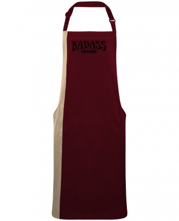 Two-tone long Apron Badass Father by  tunetoo