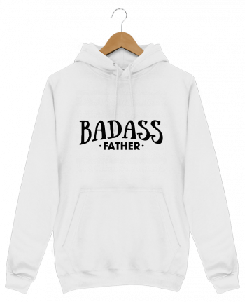 Hoodie Men Badass Father by tunetoo