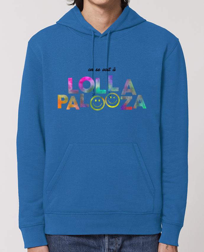 Essential unisex hoodie sweatshirt Drummer On se voit à Lollapalooza Par tunetoo