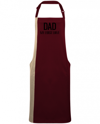 Two-tone long Apron Dad my first love by  tunetoo