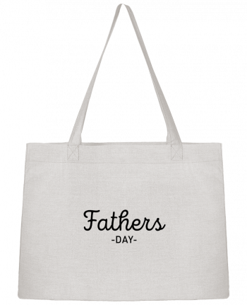 Shopping tote bag Stanley Stella Father's day by tunetoo