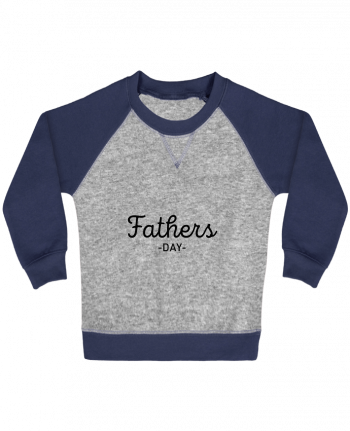 Sweatshirt Baby crew-neck sleeves contrast raglan Father's day by tunetoo