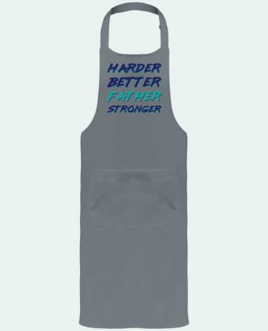 Garden or Sommelier Apron with Pocket Harder Better Father Stronger by tunetoo